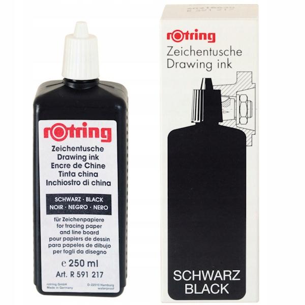 Tusz kreślarski czarny 250 ml, Rotring
