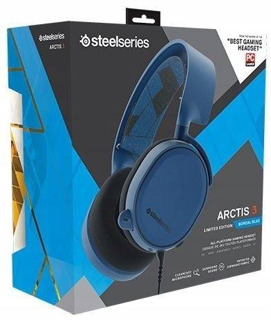 SteelSeries Arctis 3 Gaming Headset Blue PC PS4 XB
