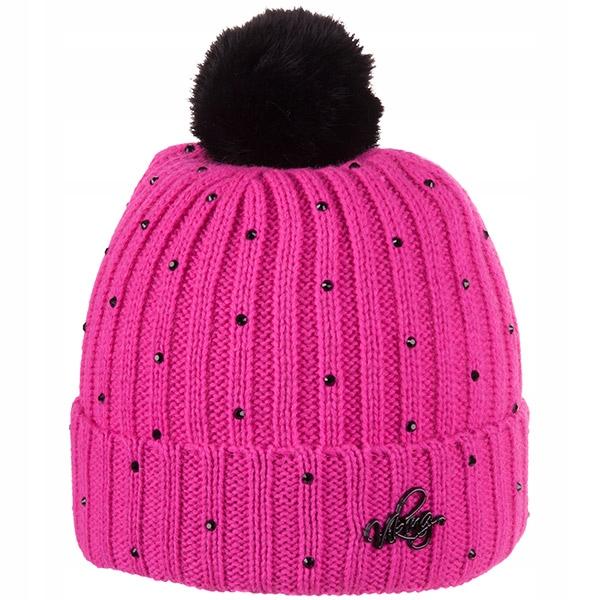 Elegancka czapka - nautralny pompon Viking Blink