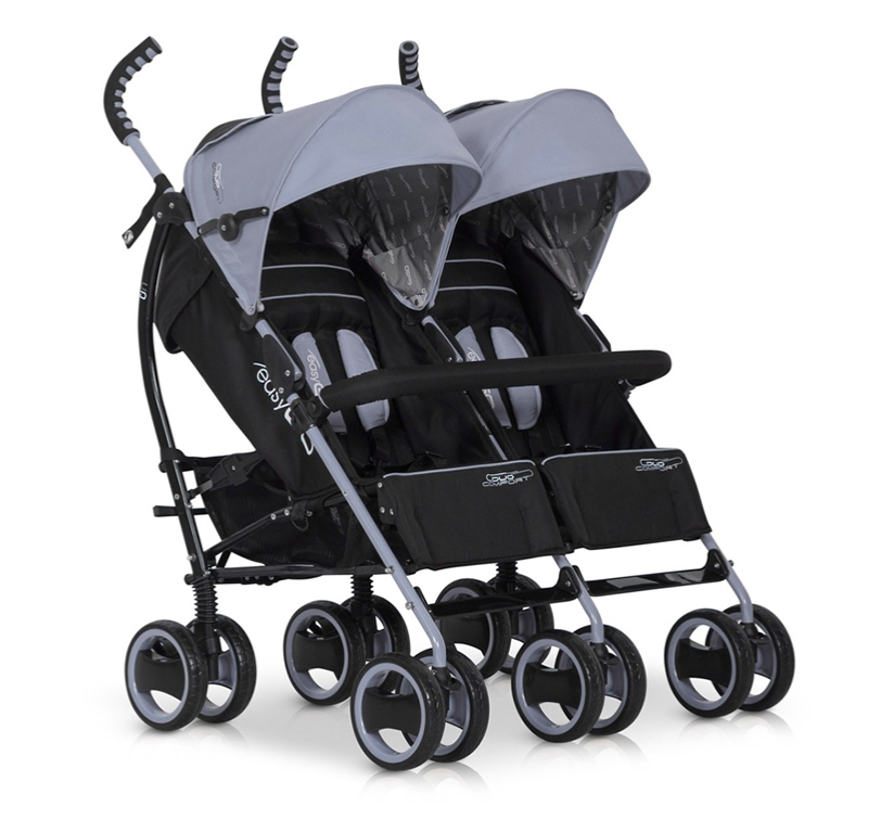 Wózek bliźniaczy spacerowy DUO COMFORT EasyGo