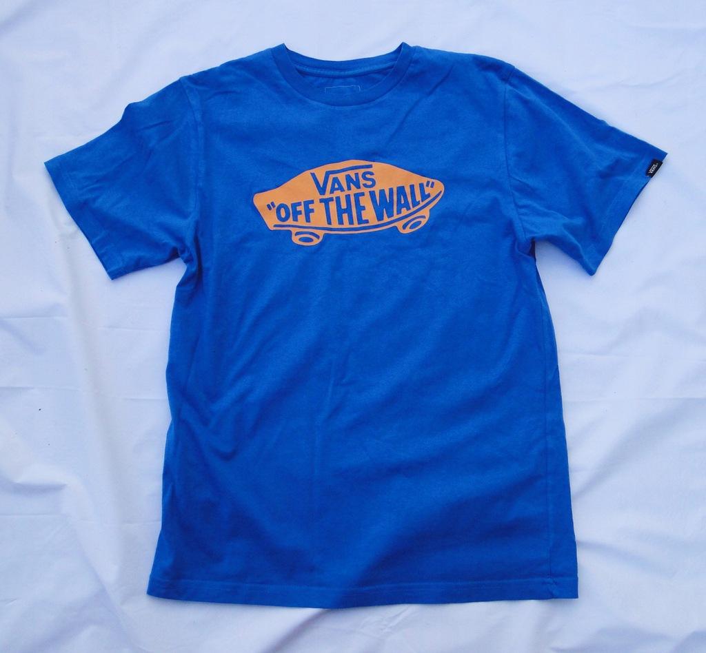 Vans* niebieski T-shirt*r.L (152-164)