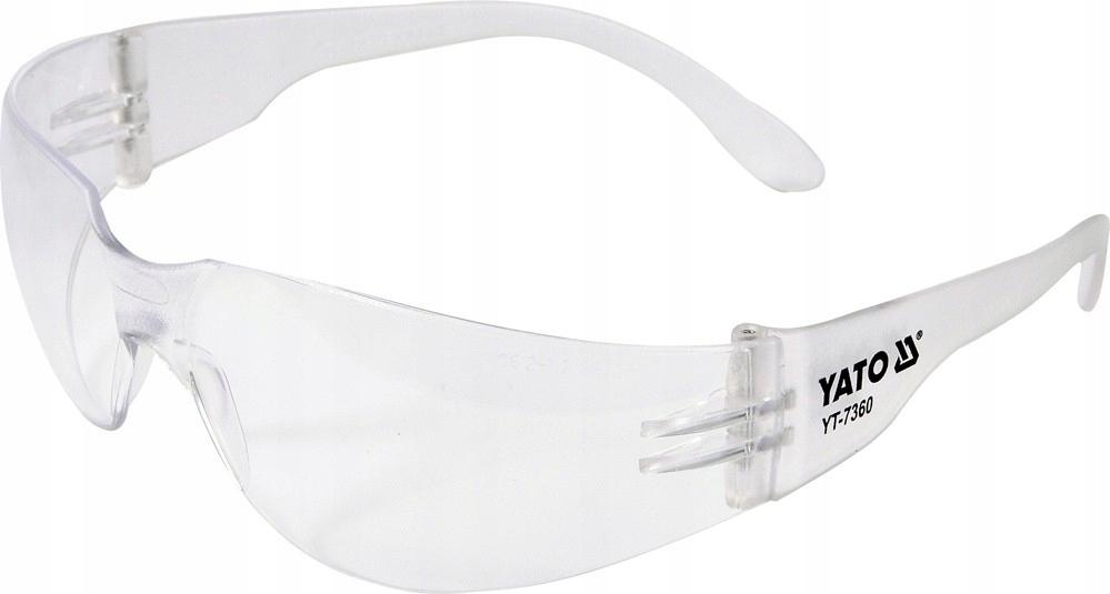Okulary ochronne bezbarwne YT-7360 YATO