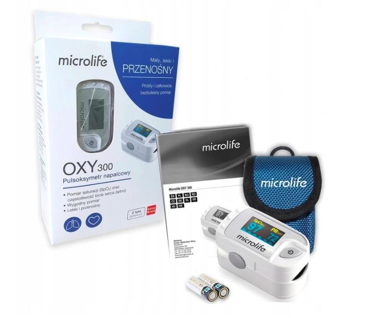 PULSOKSYMETR MEDYCZNY NAPALCOWY -Microlife OXY 300