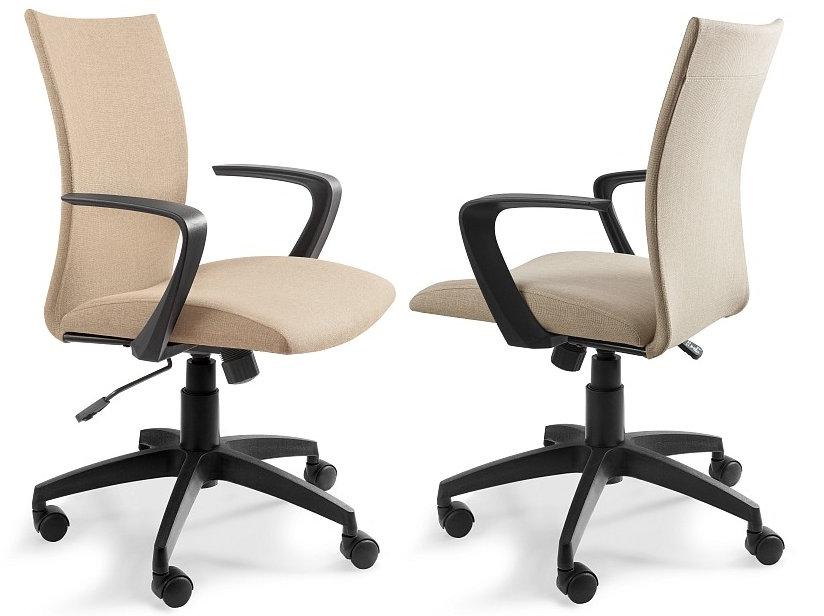 Obrotowy fotel biurowy MILLO beżowy Unique krzesło