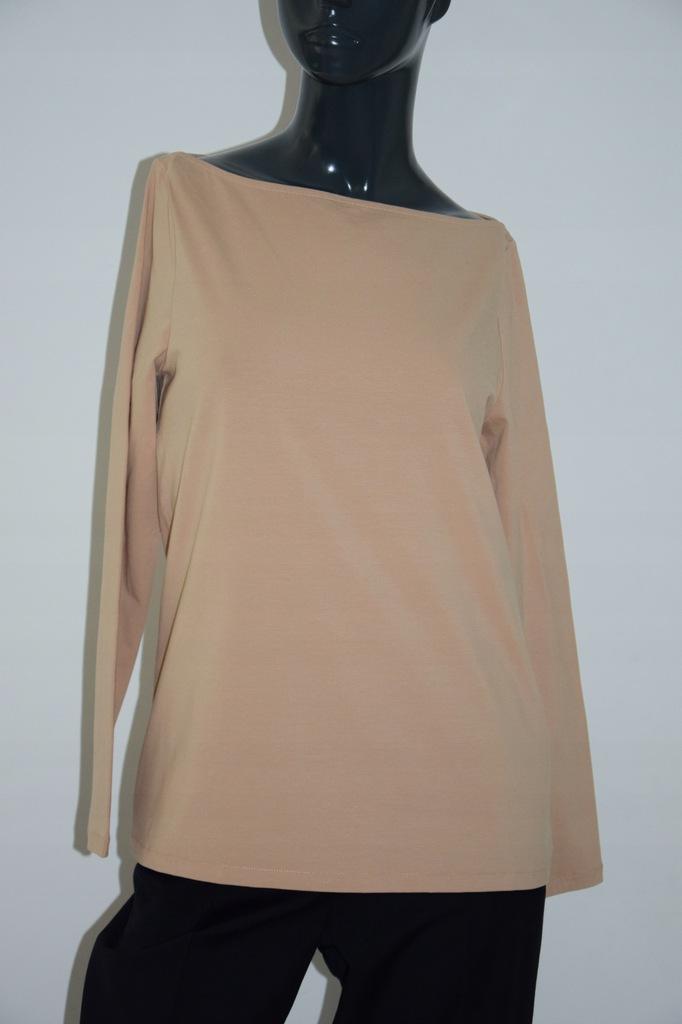 cos beżowa bluzka top bawełna r. M/38