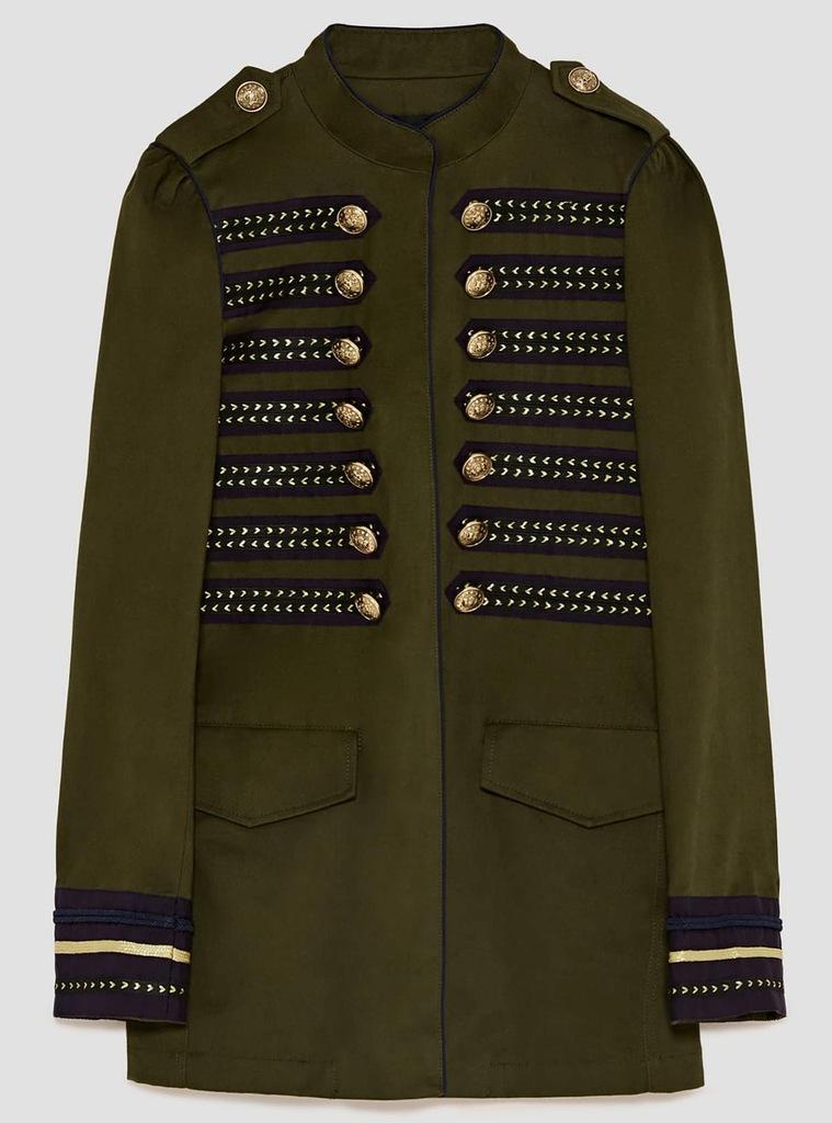 kurtka w stylu wojskowym zara