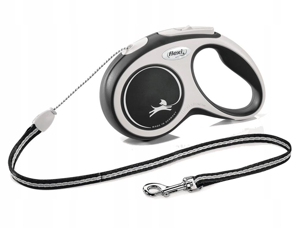 FLEXI smycz automatyczna dla psa czarna S 8m LINKA