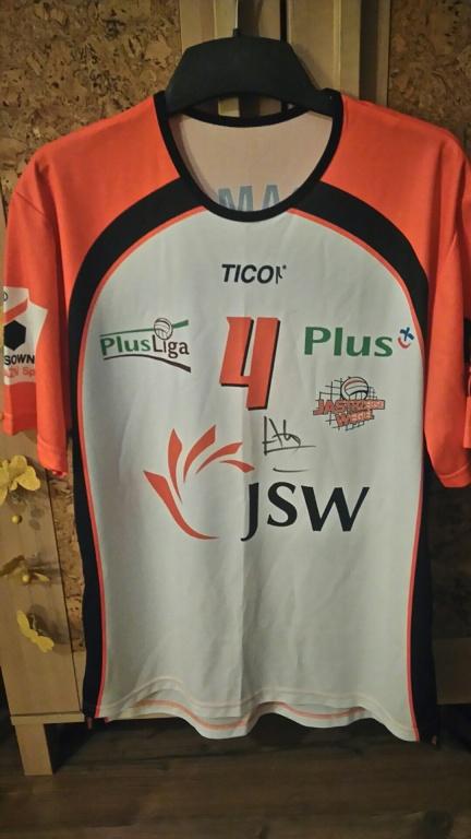 unikatowa koszulka zawodnika Jastrzębskiego Węgla