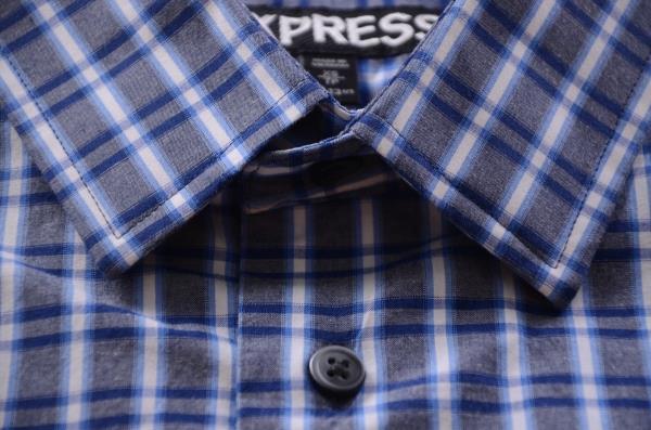 EXPRESS koszula w niebieską kratkę k 36 XS 7421176696  ZwwP0
