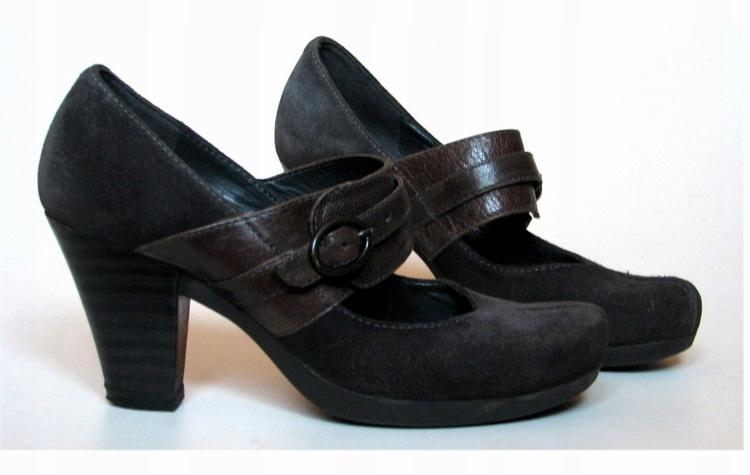 CLARKS skórzane buty czółenka r. 38 UK 5