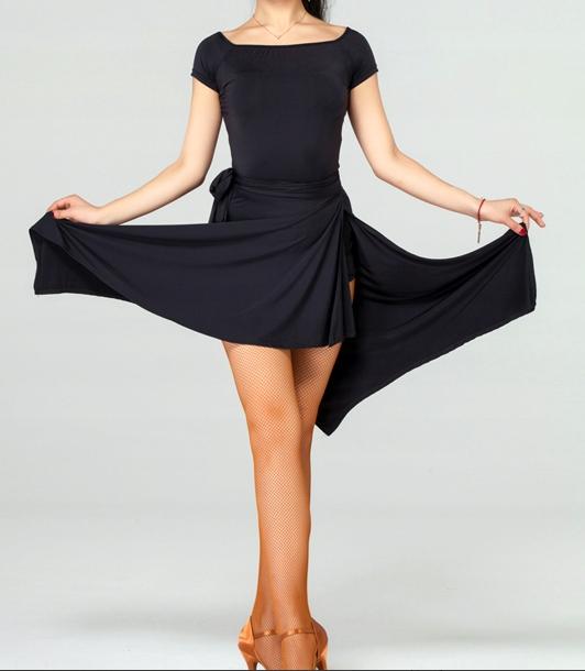 Czarna spódnica do tańca latino z majtkami/L/24h