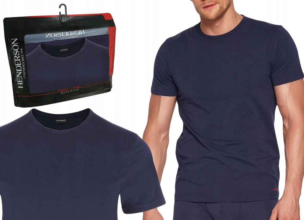 Koszulka T-Shirt K3 Henderson RED LINE granat XL