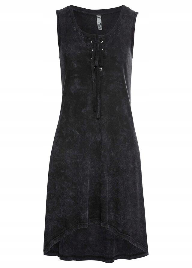 C461 BPC Sukienka shirtowa ze sznurowaniem r.44/46