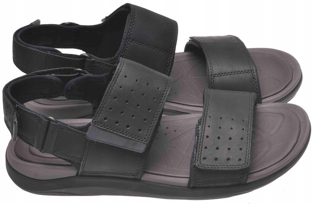SANDAŁY CLARKS GARRATT ACTIVE Black Leather 42,5