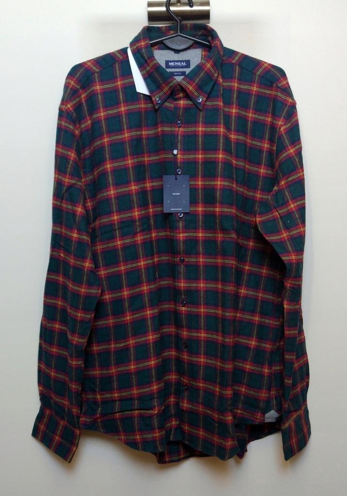 ASOS flanelowa ciemna koszula w kratę XL 7866518525  NyUQU
