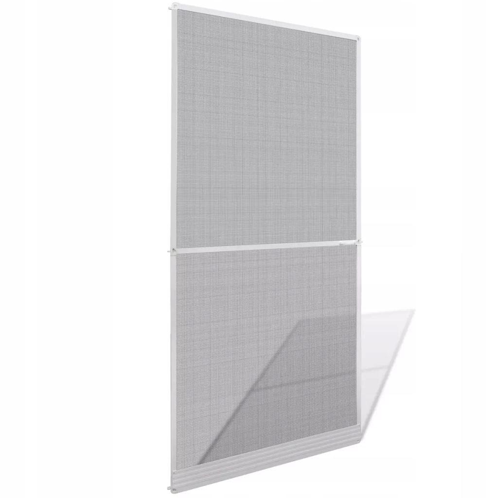 Moskitiera na drzwi na zawiasach, biała, 100 x 215