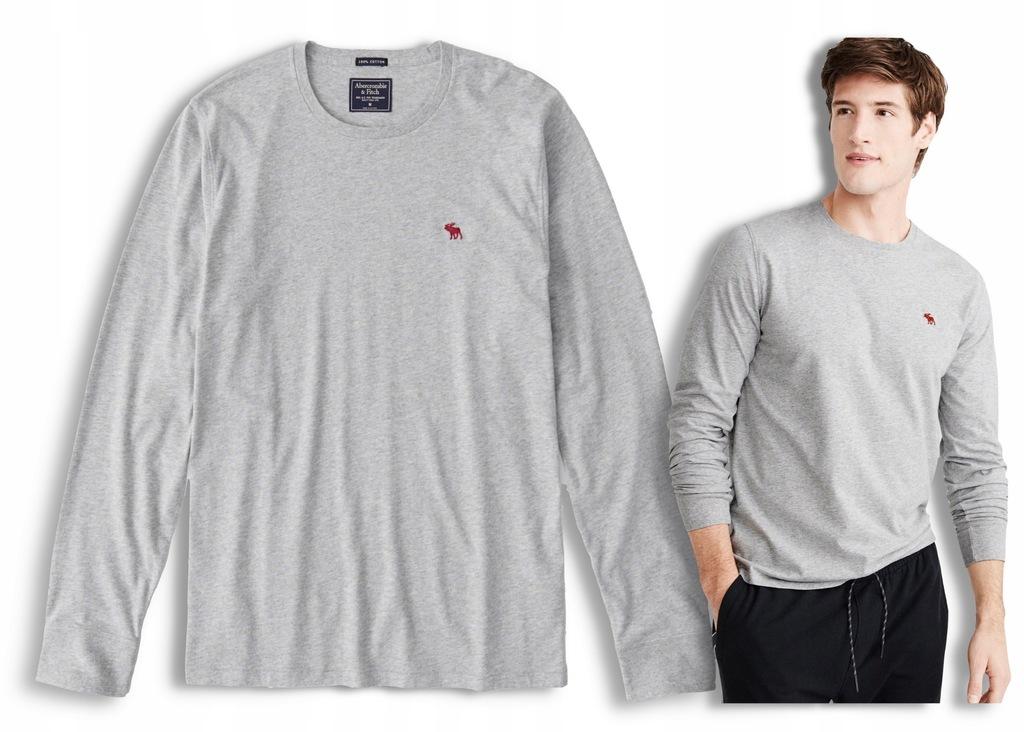 Koszulka t-shirt szary ABERCROMBIE Hollister XXL