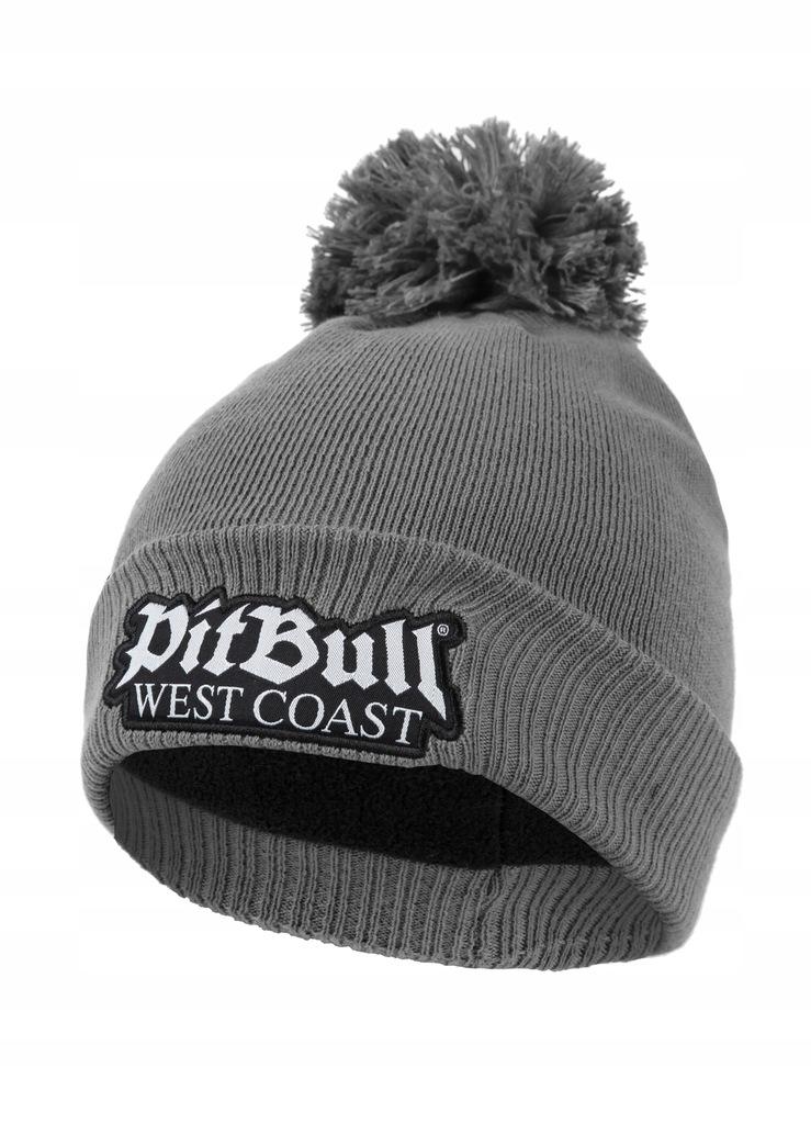 Czapka zimowa Bubble Old Logo Pit Bull szara