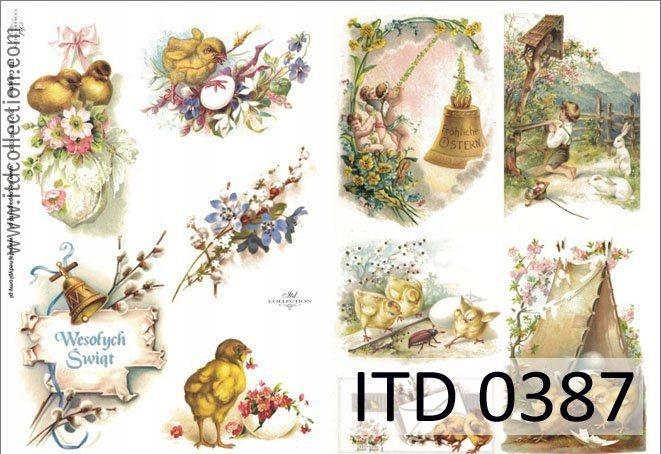 Papier do decoupage A4 - ITD - klasyczny, 0387