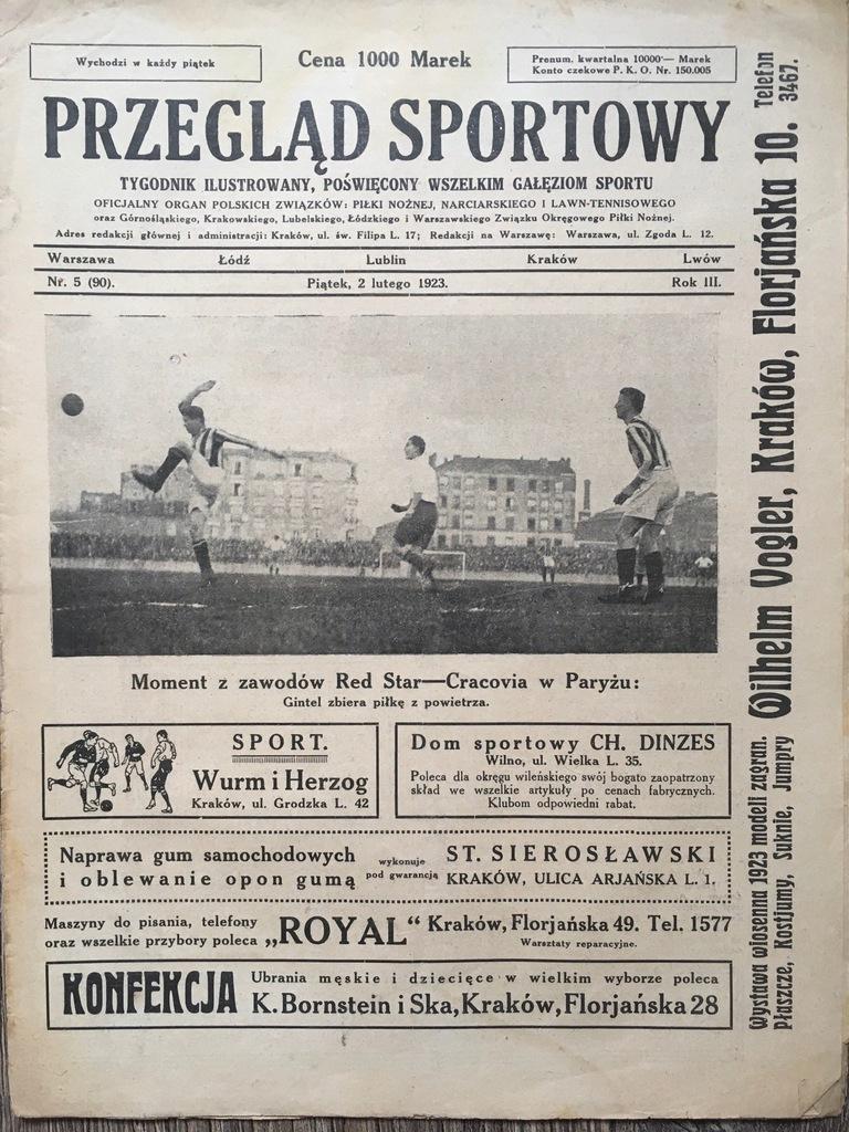 Przegląd Sportowy tyg. 1923, 1925 zestaw lic. 1 zł