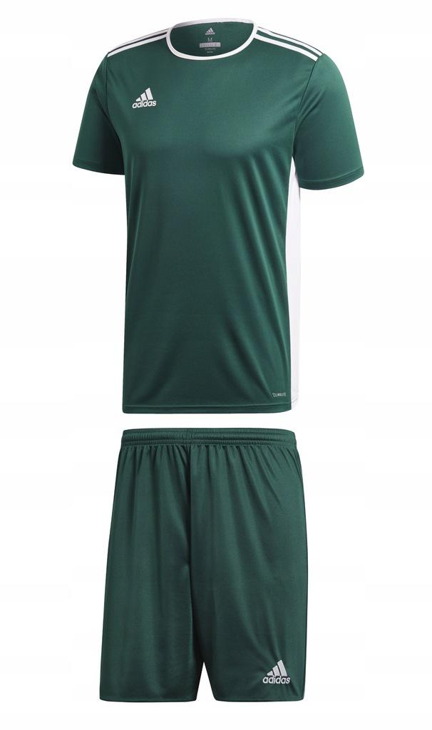 Komplet Adidas Entrada Parma zielony CAŁA ROZM L