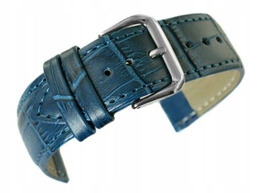 Pasek do zegarka - Skóra 20 mm - Niebieski