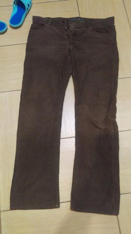 spodnie zamszowe r 36/34 meskie