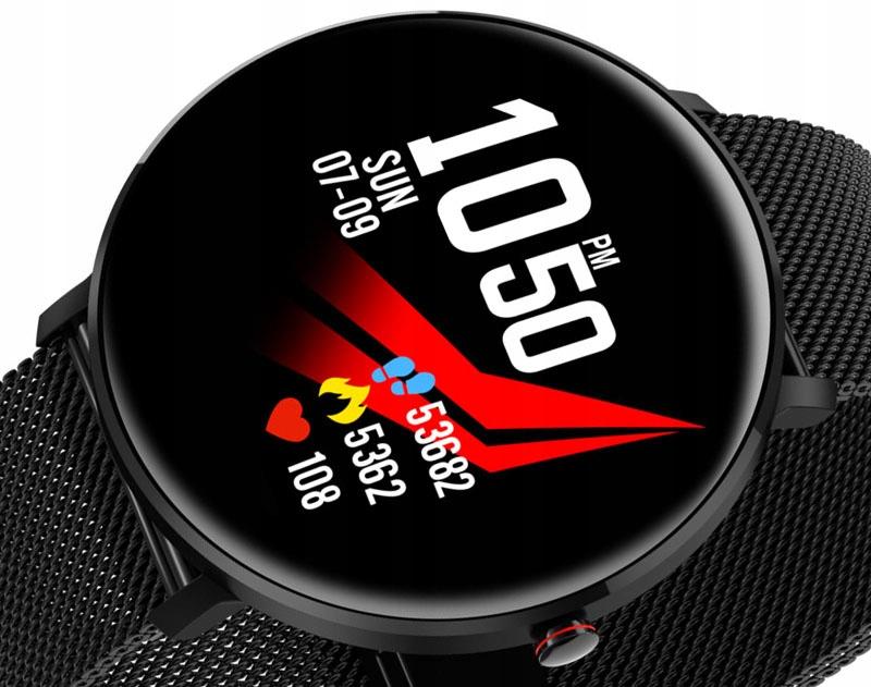 Smartwatch Młodzieżowy Pulsoksymetr IP68 Sportowy