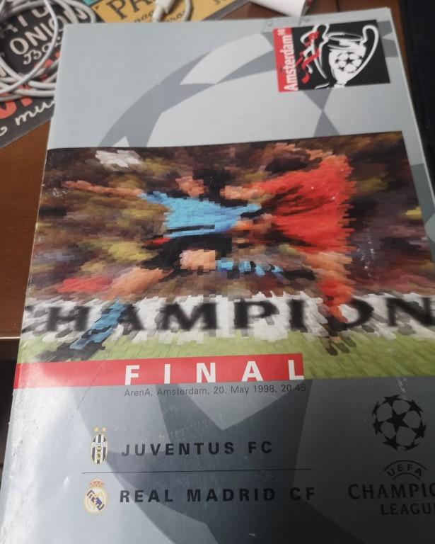 Program meczowy Juventus - Real Madryt FINAŁ LM 98