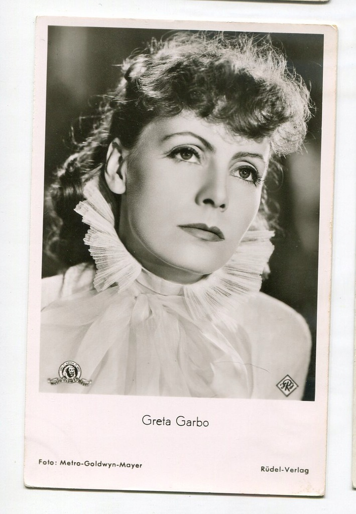 Greta Garbo Kino Film Aktorka Foto Pocztówka 59