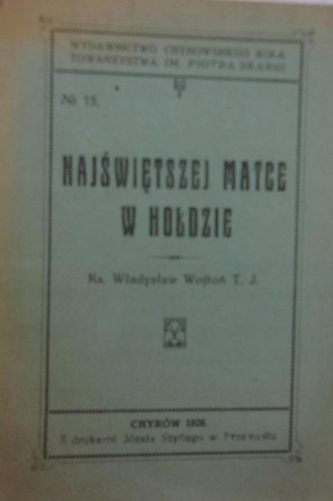 Najświętszej Matce w hołdzie 1926 r.