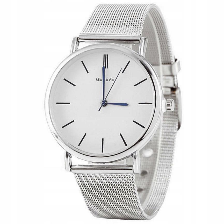 Zegarek damski męski Geneve srebrny I
