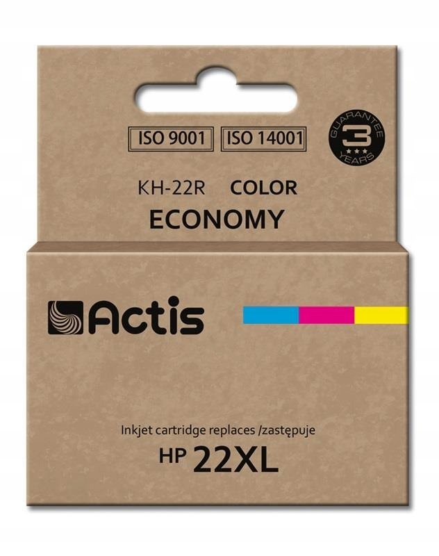Tusz ACTIS KH-22R (zamiennik HP 22XL C9352A; Stand