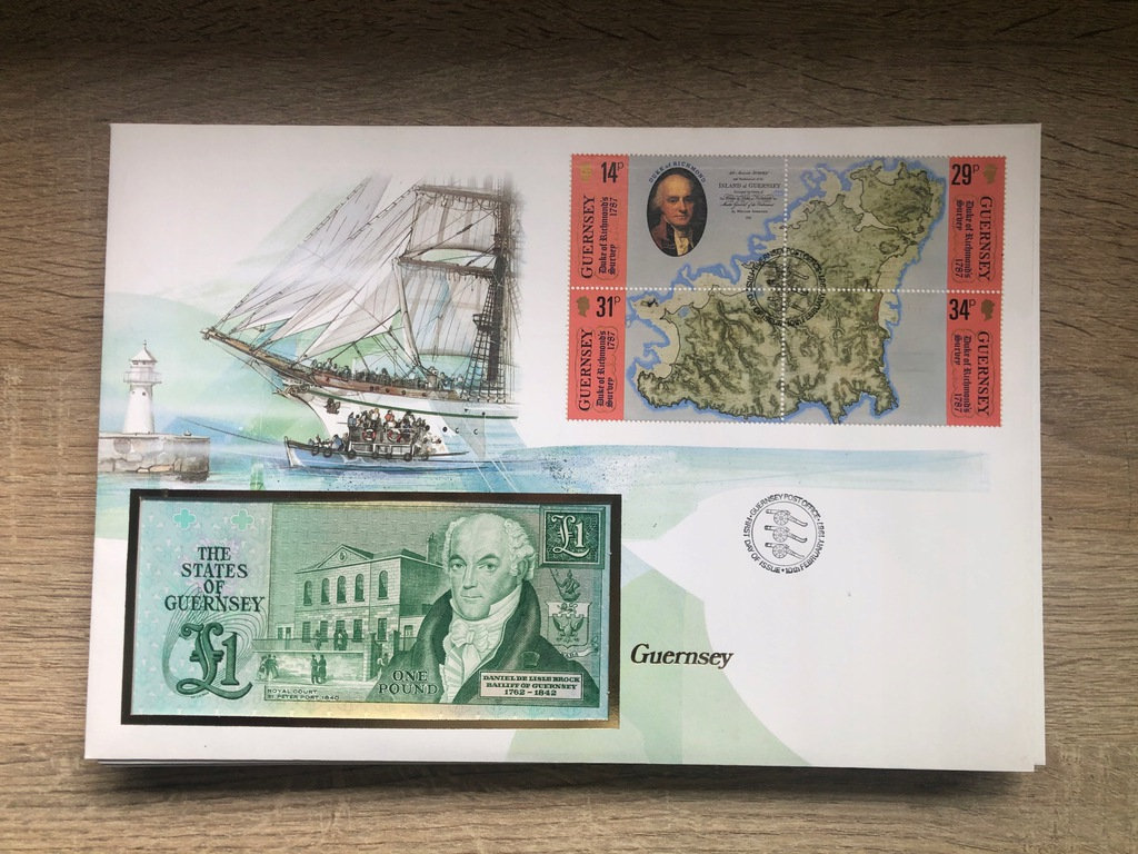 Banknot Guernsey 1 Funt 1987 UNC