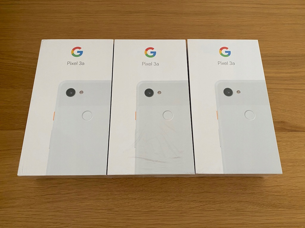 Google Pixel 3a 64GB Clearly White NOWY GWAR. 24m