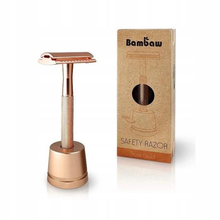 BAMBAW Wielorazowa maszynka do golenia + żyletka i
