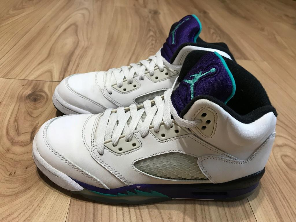 Buty Air Jordan 5 Retro skóra 38 24cm Nike wysokie