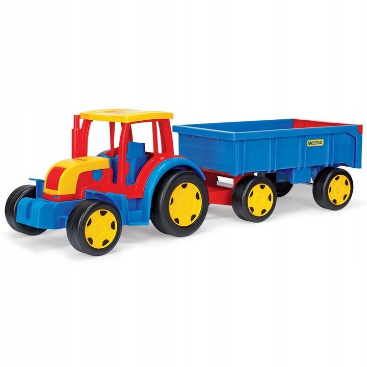 Traktor gigant z przyczepą Wader 66100