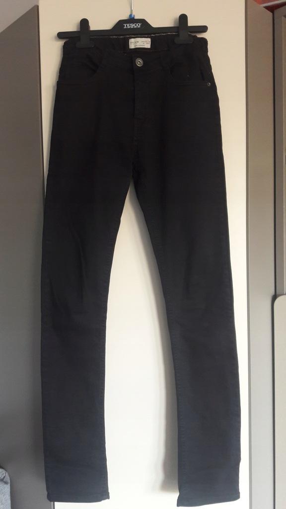 Zara jeansy czarne 164