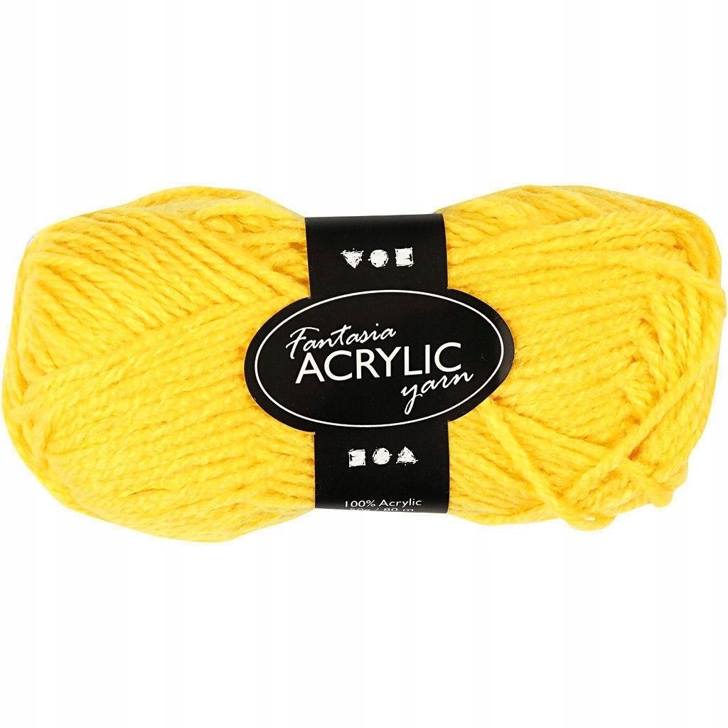 Włóczka akryl Fantasia Żółta 50 g