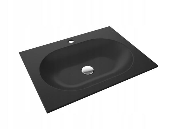 NEVE Umywalka wpuszczana w blat 50 cm czarna