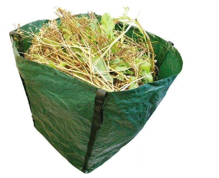 Torba liście trawe worek odpady 360l kwadratowy
