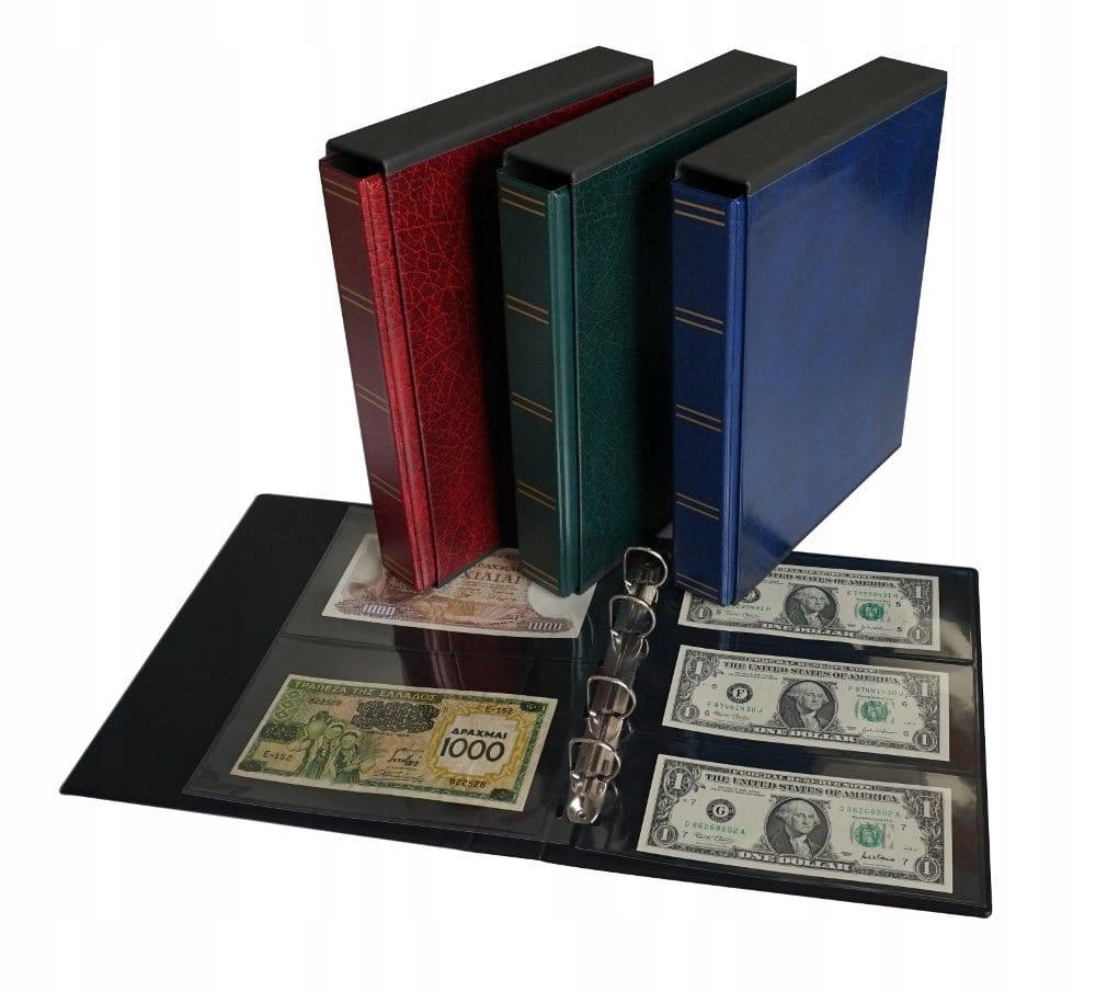 Klaser na banknoty fischer 10 stron + futerał
