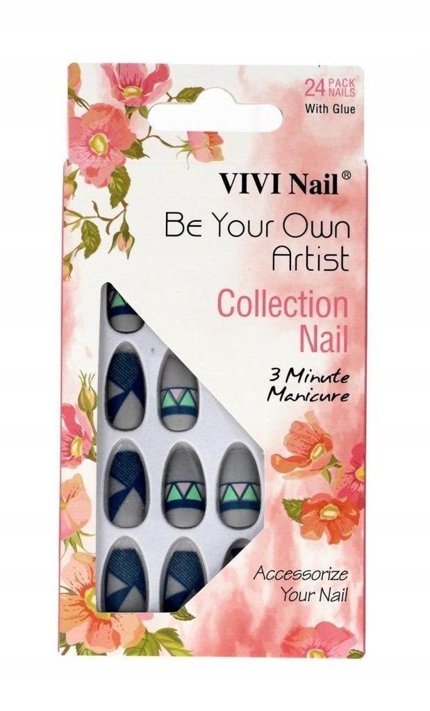 DONEGAL VIVI NAIL Sztuczne paznokcie z klejem (300