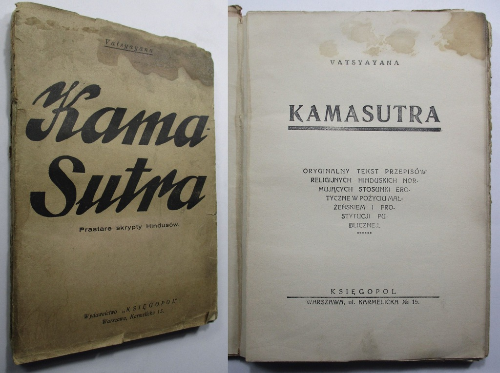 Kamasutra, Prastare skrypty Hindusów, Vatsyayana