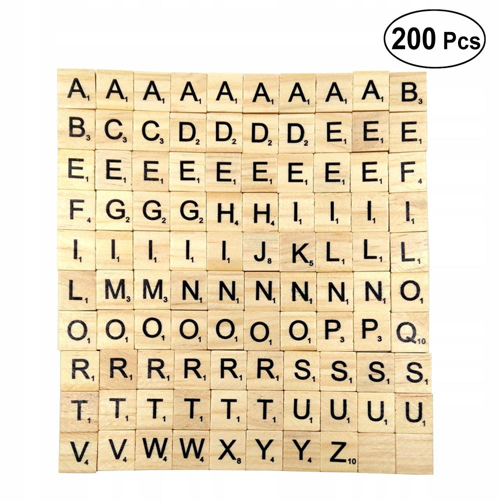 200 szt. 26 angielskich liter Drewniane dzieci Wcz