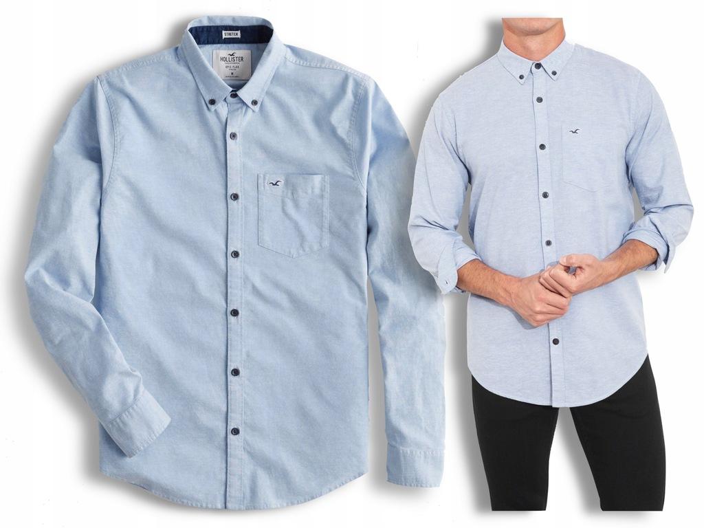 koszula męska niebieska HOLLISTER Abercrombie M