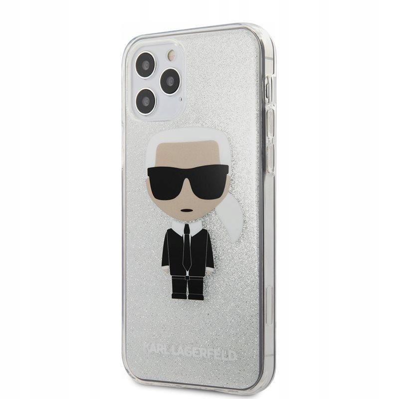 Karl Lagerfeld Iconik Glitter - Etui iPhone 12 / i