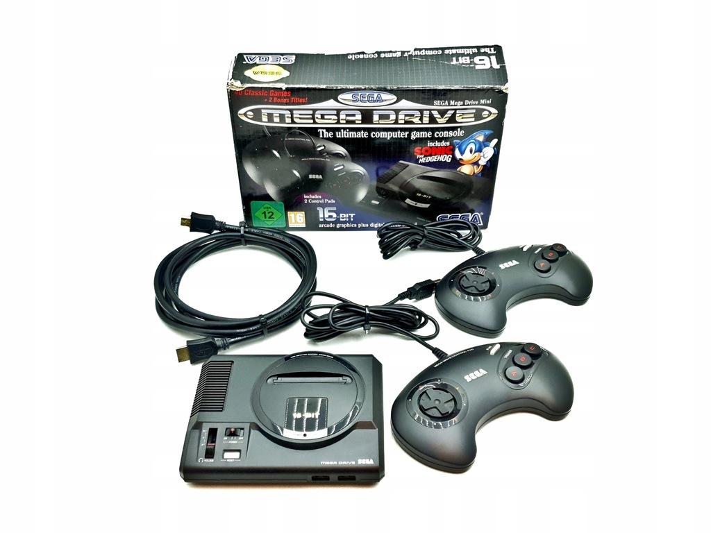 Konsola Sega Mega Drive Mini HDMI Czarna 42 Gry