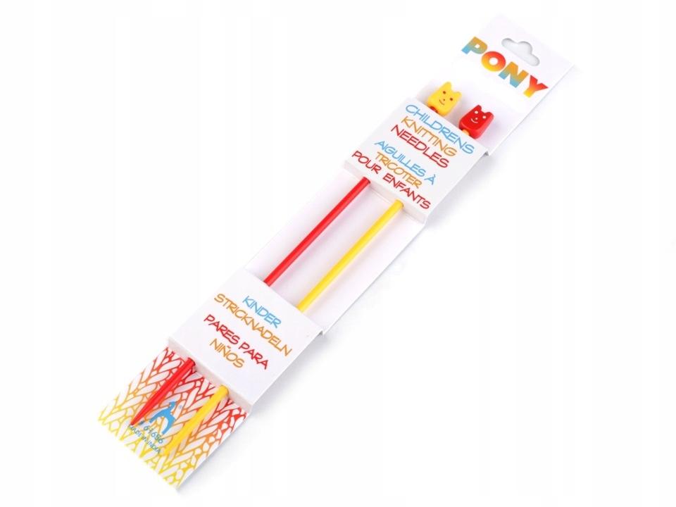 Druty dla dzieci, do nauki, plastikowe, 18cm, 4mm